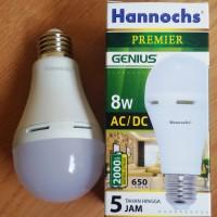Jual Lampu LED AC-DC Hannochs 8 Watt, Lampu Emergency Paling Praktis Murah