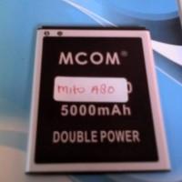 baterai mito A80 double power merk mcom