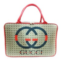Tas travel bag koper kotak renang satin Gucci