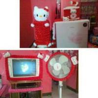 SET GKM hello kitty merah + bando tv lcd/led dan kipas
