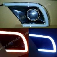 DRL Toyota Grand Innova LED COB Plasma -Frame / Cover Foglamp DRL Inno