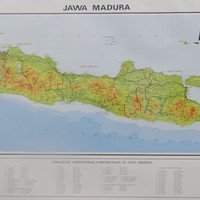 Peta Pulau Jawa dan Madura (Lipat)