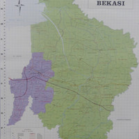 Peta Kota Bekasi (Lipat)