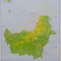 jual peta pulau kalimantan lipat jakarta selatan sarana peraga pendidikan tokopedia peta pulau kalimantan lipat