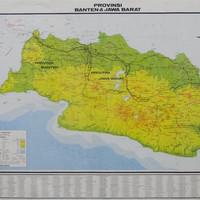 Peta Provinsi Jawa Barat & Banten (Lipat)