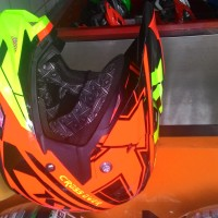 Harga helm kyt cross over super fluo orange | antitipu.com