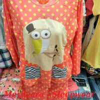 Baju Tidur / Piyama Panjang OWL / Fit L / Spandex