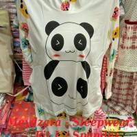Baju Tidur / Piyama Panjang Panda Gendong / Fit L / Spandex