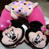 BANTAL LEHER Ada Kepala Minnie Mouse 30cm SNI