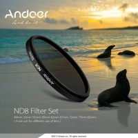 Filter ND8 Andoer 52mm Neutral Density For Nikon Canon Sigma Sony DSLR