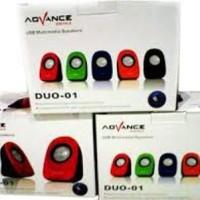 Speaker USB Multimedia ADVANCE DUO-01 F/Laptop MAC Desktop PC Komputer