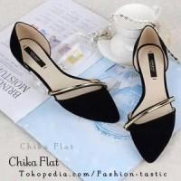 harga Flat Shoes Murah Chika Flat Sm52 Hitam Sepatu Sandal Wanita Simple Tokopedia.com