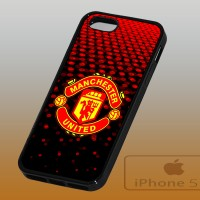 Manchester United Logo Custom Case Cover TPU For iPhone 5 / 5S