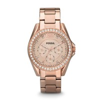 Fossil ES2811 - Riley Multifunction Rose-Tone Stainless Steel Watch