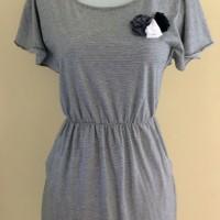 Dress Casual Wanita Garis Garis Preloved / Second DS14