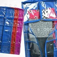 Jilbab organizer rak cover + hanger susun 9 / Hanging scarf rack