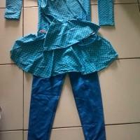Baju renang muslimah anak2 / anak cewek / busana muslim anak motif