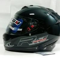 Helm GM Race Pro 2 BLACK Glass Hitam Full Face Double Visor
