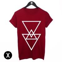 Kaos Triangel - Merah Maroon