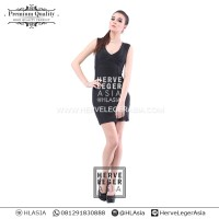 harga PREMIUM HERVE LEGER - SIGNATURE CHIC VNECK DRESS - BODY CON - BANDAGE Tokopedia.com