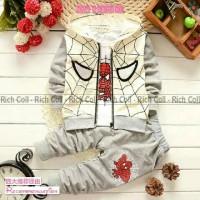 Set Spider Ziper Bhn Spandex Size 2-3th