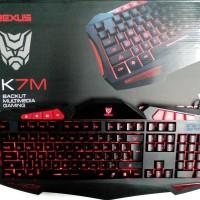 REXUS K7M - Backlit Multimedia Gaming Keyboard (RED