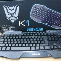 REXUS K1 - Backlit Multimedia Gaming Keyboard (BLUE Backlight)