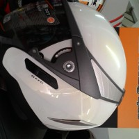 Helm INK Metallico Putih Double Visor
