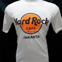 kaos hard rock cafe jakarta putih bahan katun halus dan lembut