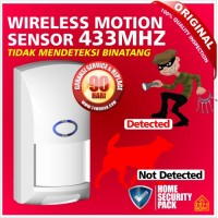 harga Alarm Sensor Gerak - Motion Pir - Wireless - Pet Immune Technology Tokopedia.com
