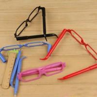 pulpen kacamata ballpoint bolpen pen pena bolpoin glasses unik