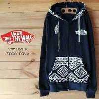 jaket vans batik navy