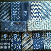 Kain Batik Halus Cap Garutan Jawa Barat Warna Biru Tua