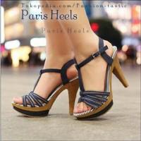 Jual High heels Murah PARIS HEELS SM107 Denim Sepatu fashion wanita simple Murah