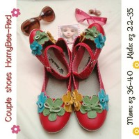 harga Couple Shoes Mom N Kids Homybee-red Tokopedia.com