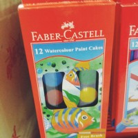 Faber Castell Watercolour Paint Cakes 12 Warna Cake