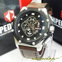 Jam Tangan Expedition Pria E 6686 Silver Black Original