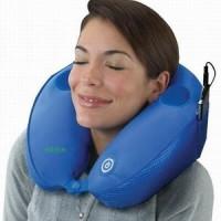 Bantal Leher Pijat Musik MP3 Travel Pillow Massage
