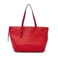 FOSSIL SYDNEY SHOPPER REAL RED