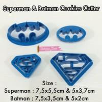 CU074 Superman & batman cookies cutter fondant clay bento tools baking