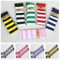 Kaos Kaki Stripe Strip Hitam Putih Merah 50cm Overknee Cosplay Import
