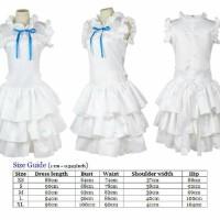 Kostum Meiko Honma Menma Anohana Dress Putih Cosplay Costume Import