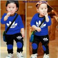 St ADS Boy Blue AI Setelan Baju Anak Anak Laki Keren Lucu Murah