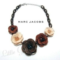 MJ0001 - Flowers Chain Necklace BROWN (Kalung Bunga Marc Jacobs)