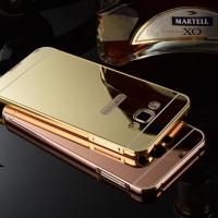 Bumper Samsung Note 1 Metal Mirror Miror Case Back Hardcase