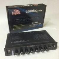 parametrik / pre amp / equalizer coustic audio ca - 803 bisa karaoke