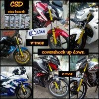 cover shock up down new vixion byson verza cb150r new megapro satria