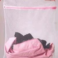 Tempat Baju Kotor Tas Laundry Bag Jaring 30x40cm Zipper resleting Cuci