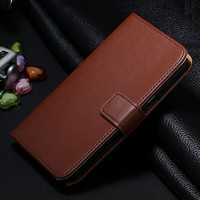 Genuine Leather Case For Samsung Galaxy Note 3 Flip Stand (Brown)