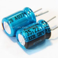 1pc Capacitor Kapasitor Cap RUBYCON RX30 22uF 35v Radial
